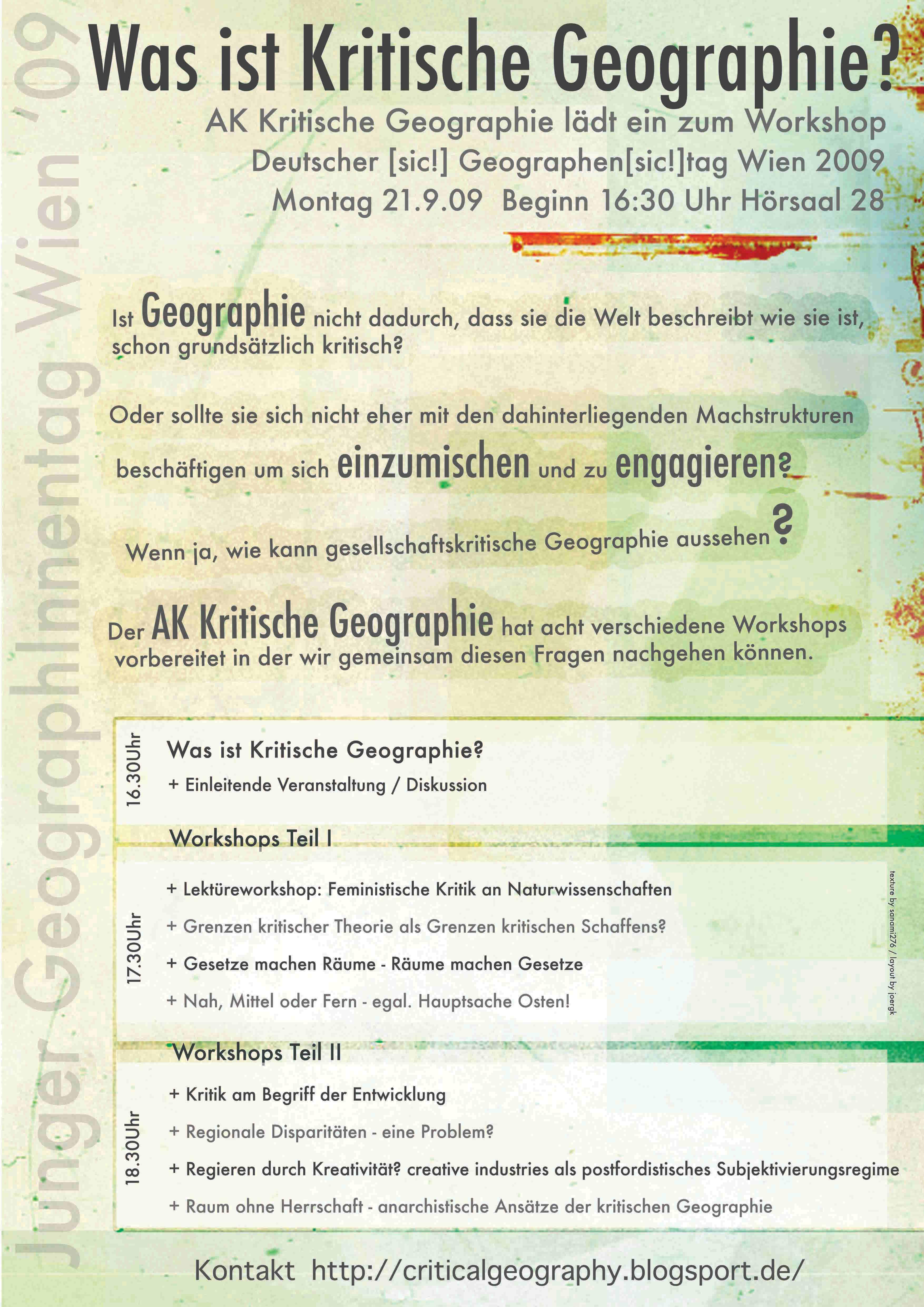 AK Kritische Geographie in Wien